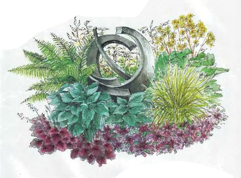 Схема цветника с живучкой