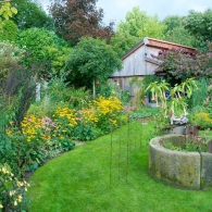 Colorful borders at the Picker garden in Borken-Weseke (Germany).