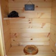 отделка туалета натуральным деревом