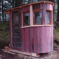 нестандартная форма туалета для дачи
