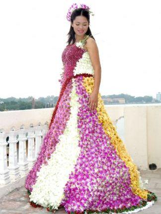 платье из цветов_фото