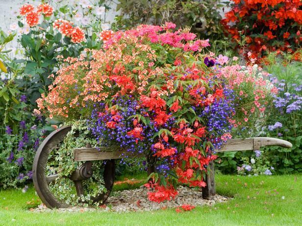 телега с цветами фото