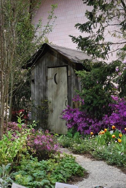 Озеленение прилегающей к туалету территории